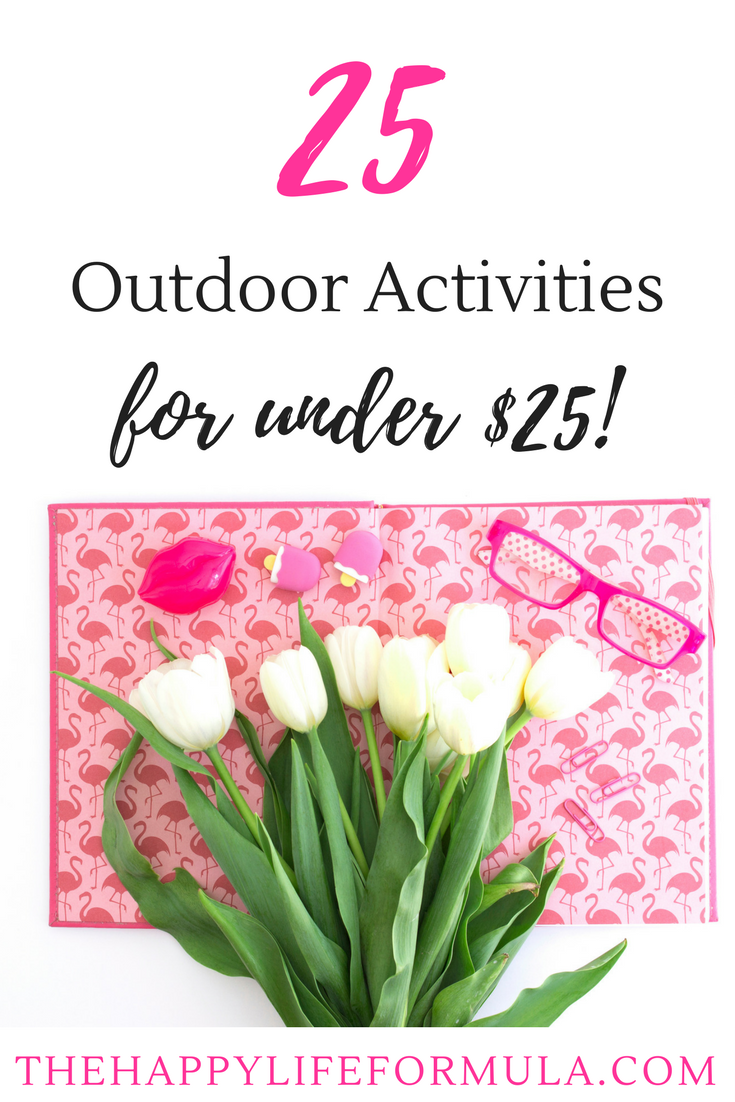 What a great list of fun outdoor activities for under $25! Some of the ideas are even free. I can't wait to try them all this spring and summer!