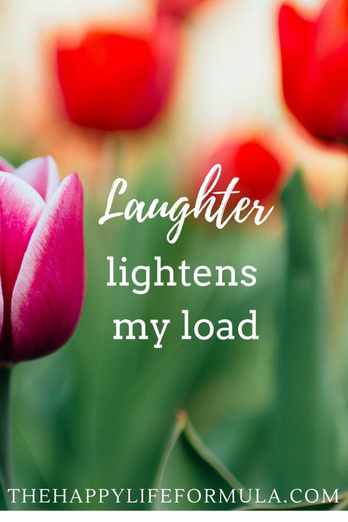 Laughter lightens my load. I am enough. Repeat this mantra daily and click through for more!