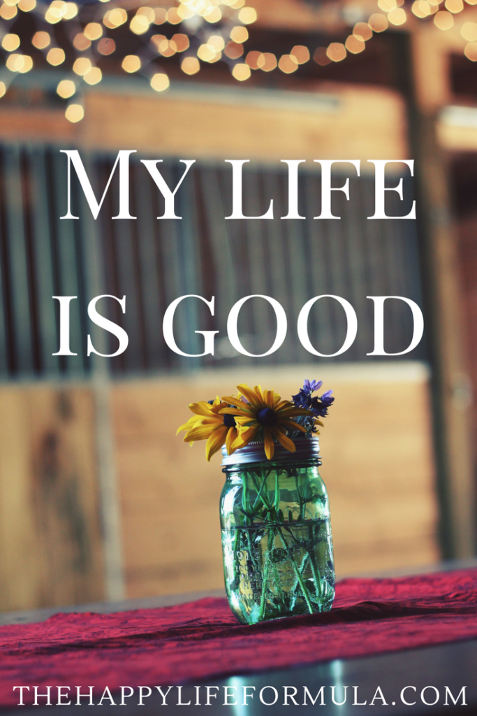 My life is good. Repeat this mantra daily and click through for more!