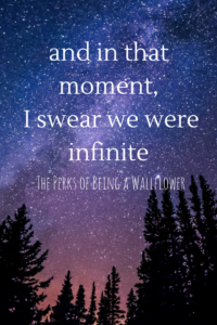 And in that moment, I swear we were infinite is one of my all time favorite literary quotes. Click through to see my summer reading list (including Perks of Being a Wallflower!)
