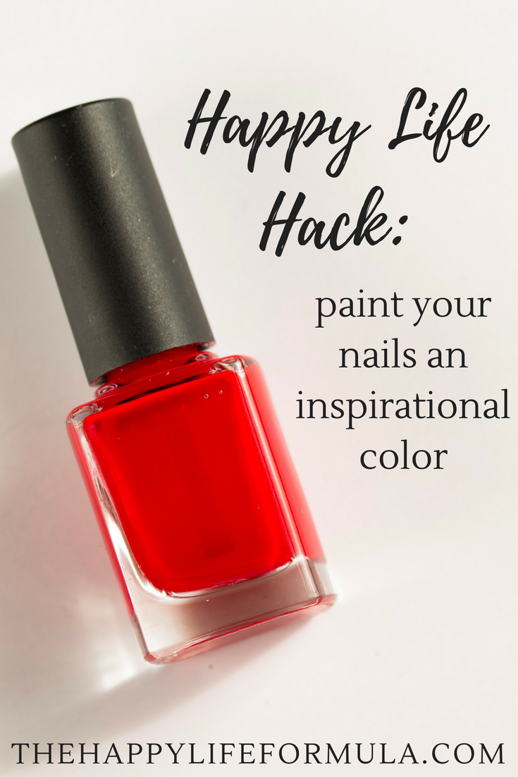 Happy Life Hack: Paint your nails an inspirational color. Paint yourself with positive vibes and affirmations to make your day a little.... brighter!