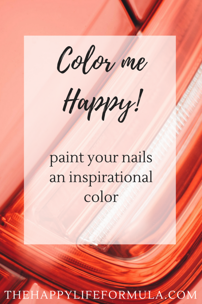 Need something small to make your life a little happier? Try painting your nails with a color that has an inspiring name!