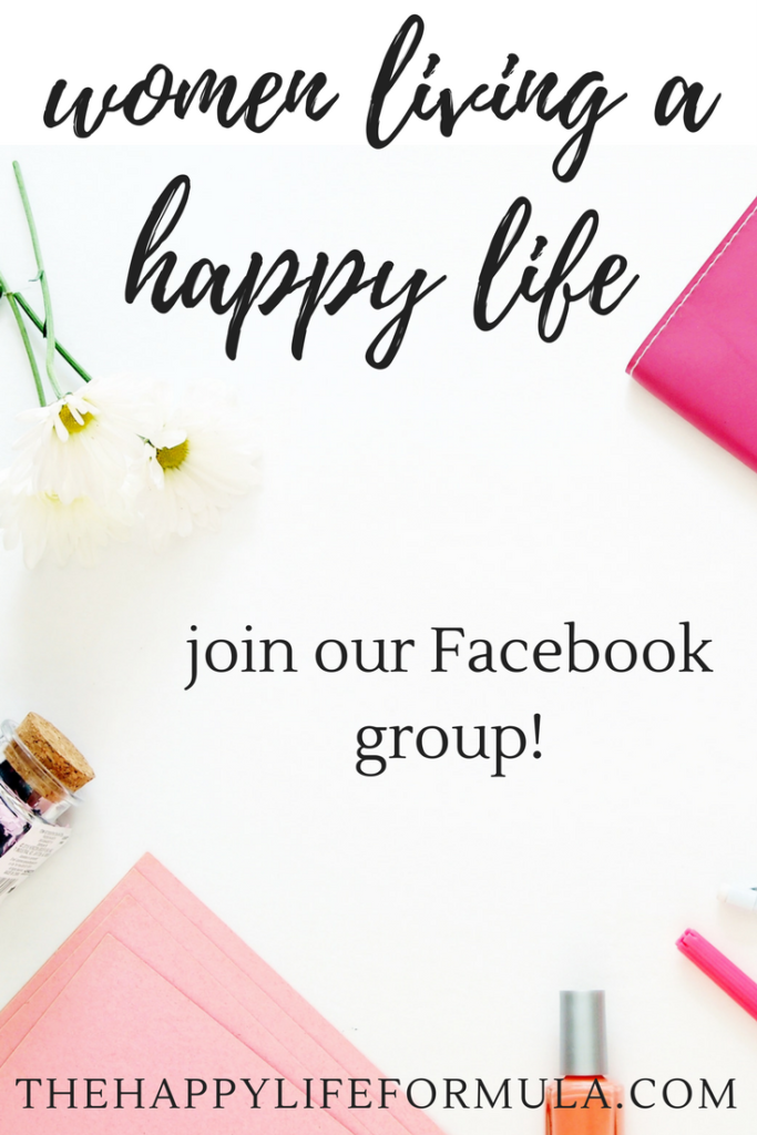 Want to be happier? Surround yourself with happy people by joining the Women Living a Happy Life Facebook community! A fun, interactive, and supportive place for all thing related to being... happy!